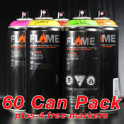 Art Primo Flame Orange Pack 60-Can Pack
