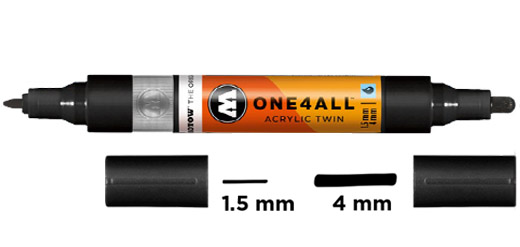 Acrylic Twin Marker