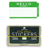 Art Primo: Hello My Name Is (Green) Egg Shell Stickers ...