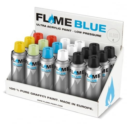 Art Primo: Flame Blue Ultra Acrylic Paint 200ML [Specialty Cans]