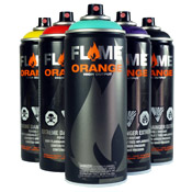 Flame-Orange Spray Paint 6pk