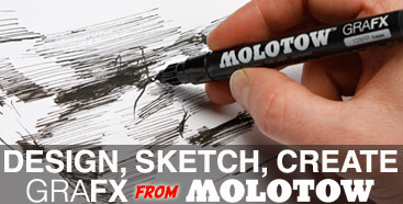Molotow GRAFX markers for precision control